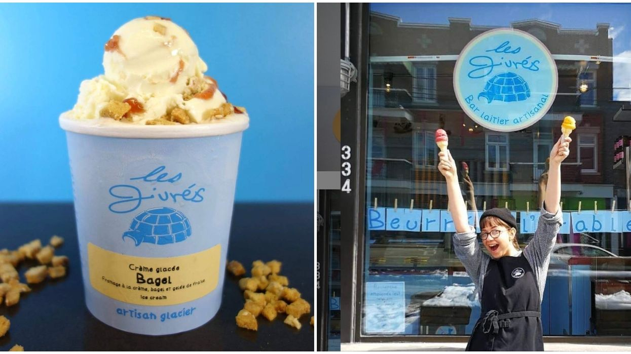 A Canadian Company Makes Bagel Flavoured Ice Cream & It's The Most Montreal Thing Ever