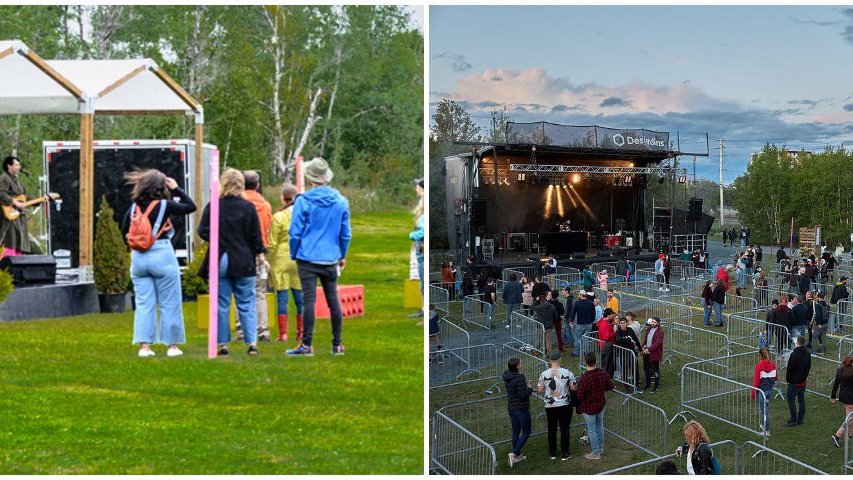 FME : Le premier festival extérieur avec enclos au Québec et voici à quoi ça ressemblait