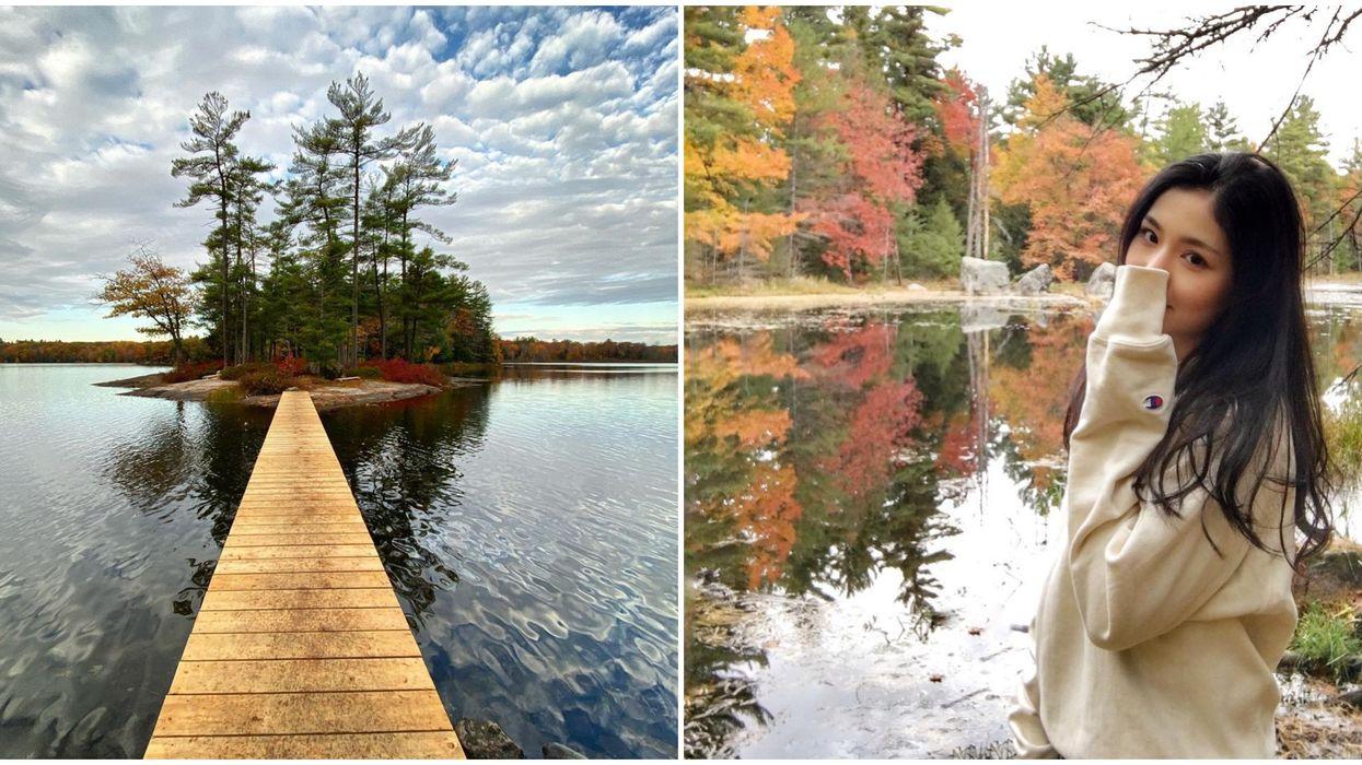 You Can Hike To A Tiny Island & Gorgeous Foliage Near Toronto This Fall