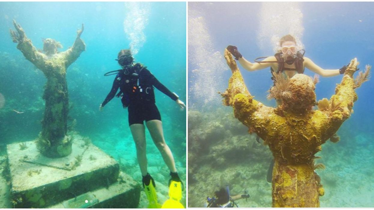 Florida Snorkeling Tour Adventure Leads To An Underwater Statue Of Christ