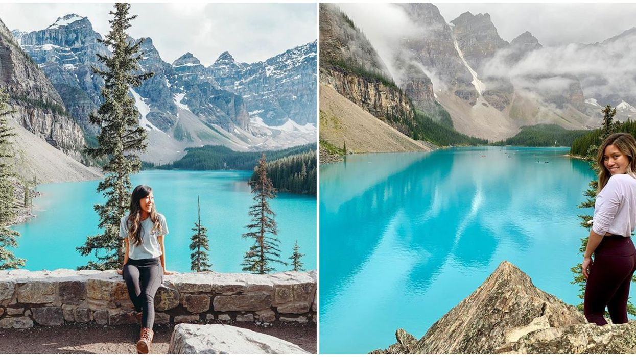 This Super Short 0.4-km Trail Leads To The Best View Of Alberta's Iconic Moraine Lake