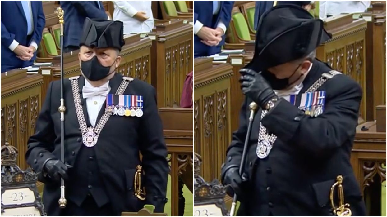 The Usher Of The Black Rod Totally Stole The Show During Canada's Throne Speech