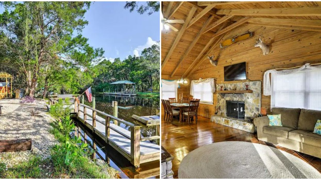 Affordable Florida Airbnb Rental Cabin With Riverside Hot Tub Is A Perfect Nature Getaway