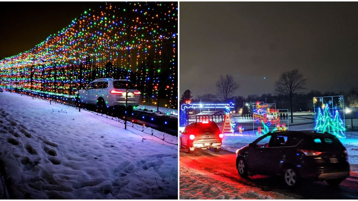 You Can Drive Through Twinkling Tunnels At Ontario's 2-km Illuminated Trail This Week