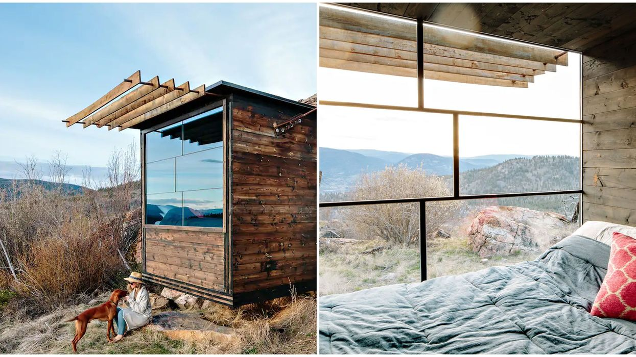 Cube Airbnb In BC Is A Tiny Glass Cabin In Wine Country Under $160 A Night