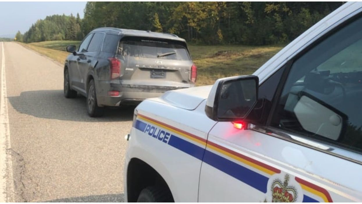 Alberta RCMP Caught 2 Guys Sleeping In A Stolen Car On The Highway