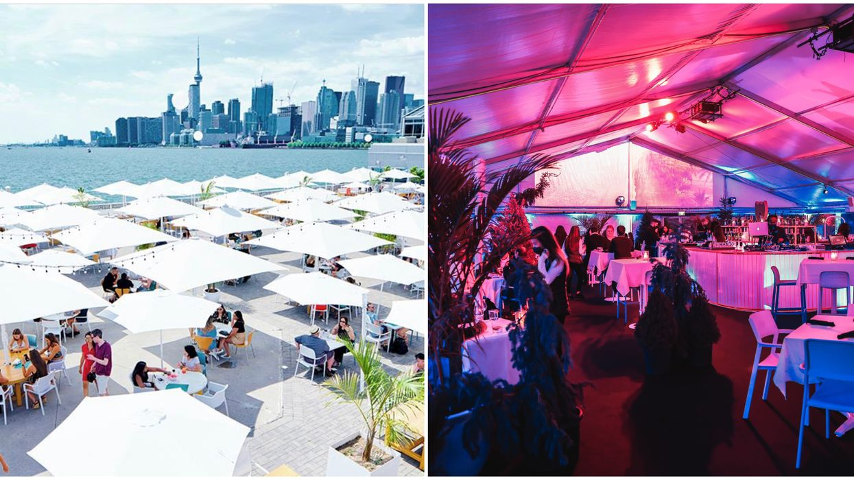 Toronto's Massive Waterfront Pool Bar Has Transformed Into A Magical Winter Patio