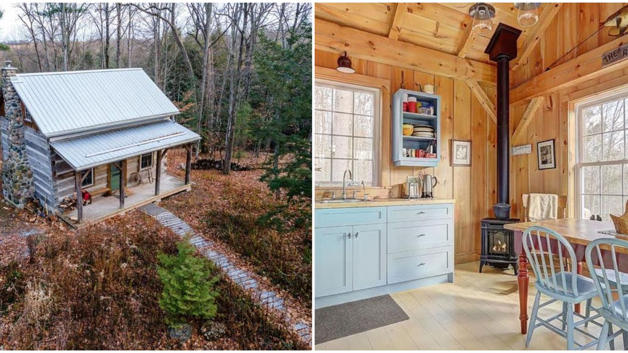 This Ontario Log Home Is Nestled In A Serene Forest & Costs Less Than City Living (PHOTOS)