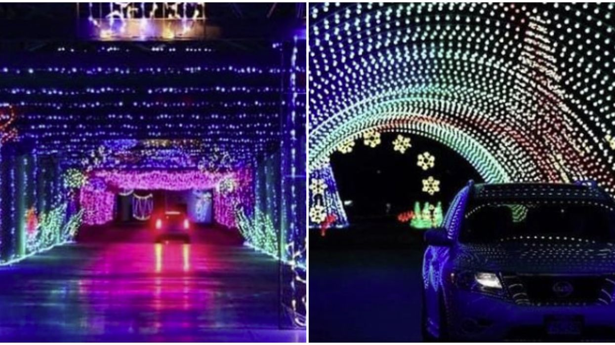 Texas Motor Speedway Just Transformed From Race Track To Magical Drive-Thru Light Show