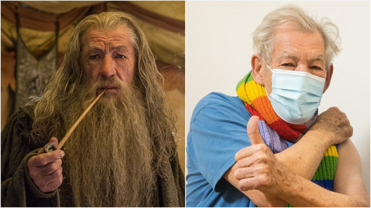 Sir Ian McKellen Says He's 'Euphoric' After Getting The COVID-19 Vaccine (PHOTOS)