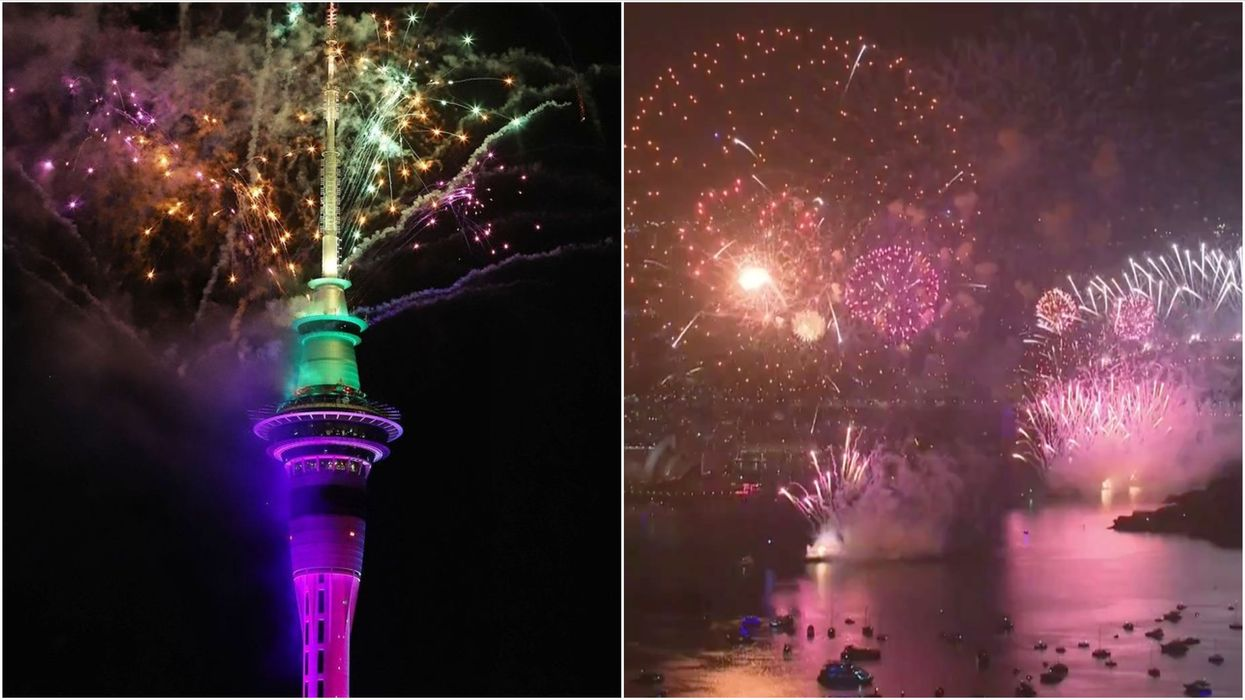 It's Already 2021 In New Zealand & Australia With Huge Crowds To Celebrate (VIDEOS)