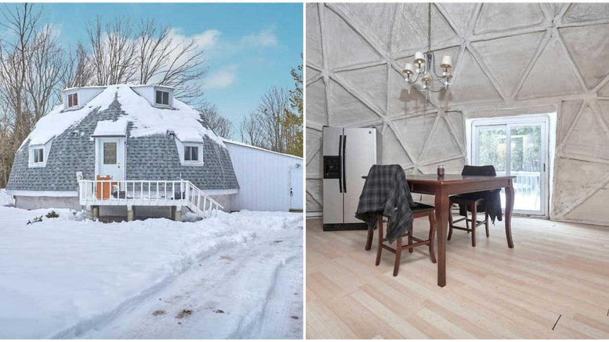Ontario's 3-Level Dome Home Is Just $315K & It's Like Living In A Snow Globe (PHOTOS)