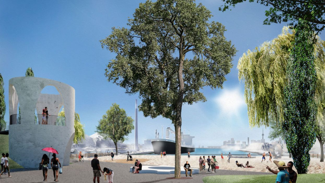 A Toronto Park Coming To The City's East-End Will Include Its Own Beach (PHOTOS)