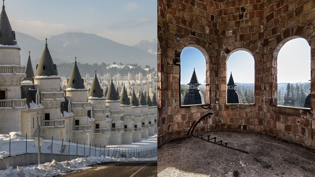 This Abandoned Town In Turkey Features Hundreds Of Tiny Castles & It's So Eerie (PHOTOS)