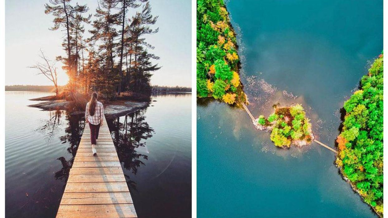 You Can Wander Across A Lake To A Secret Island At This Stunning Ontario Trail