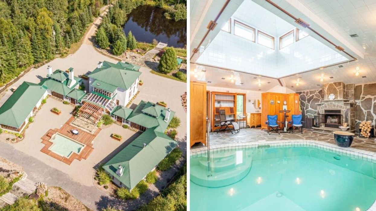 Ce domaine de 40 acres à 2 h de Montréal coûte près de 2,5 M$ et c'est digne d'un resort