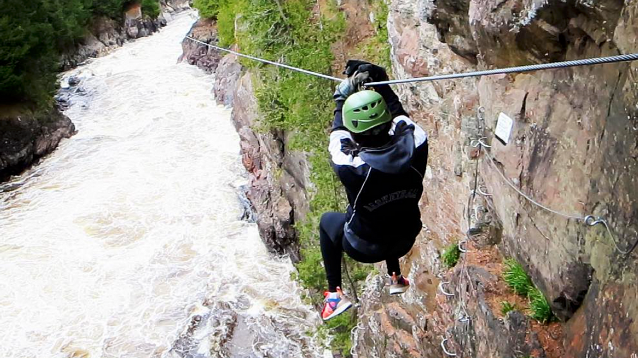 You Can Zip Line Over Rushing Whitewater Rapids At This Park Near Ontario