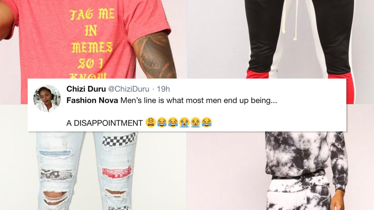Fashion Nova's New Menswear Line Gets Terrible Reviews