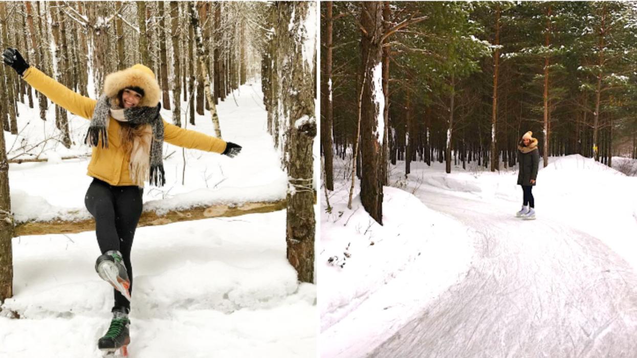 La patinoire féérique de 15 km en pleine forêt à 1h40 de Montréal est ouverte pour l'hiver