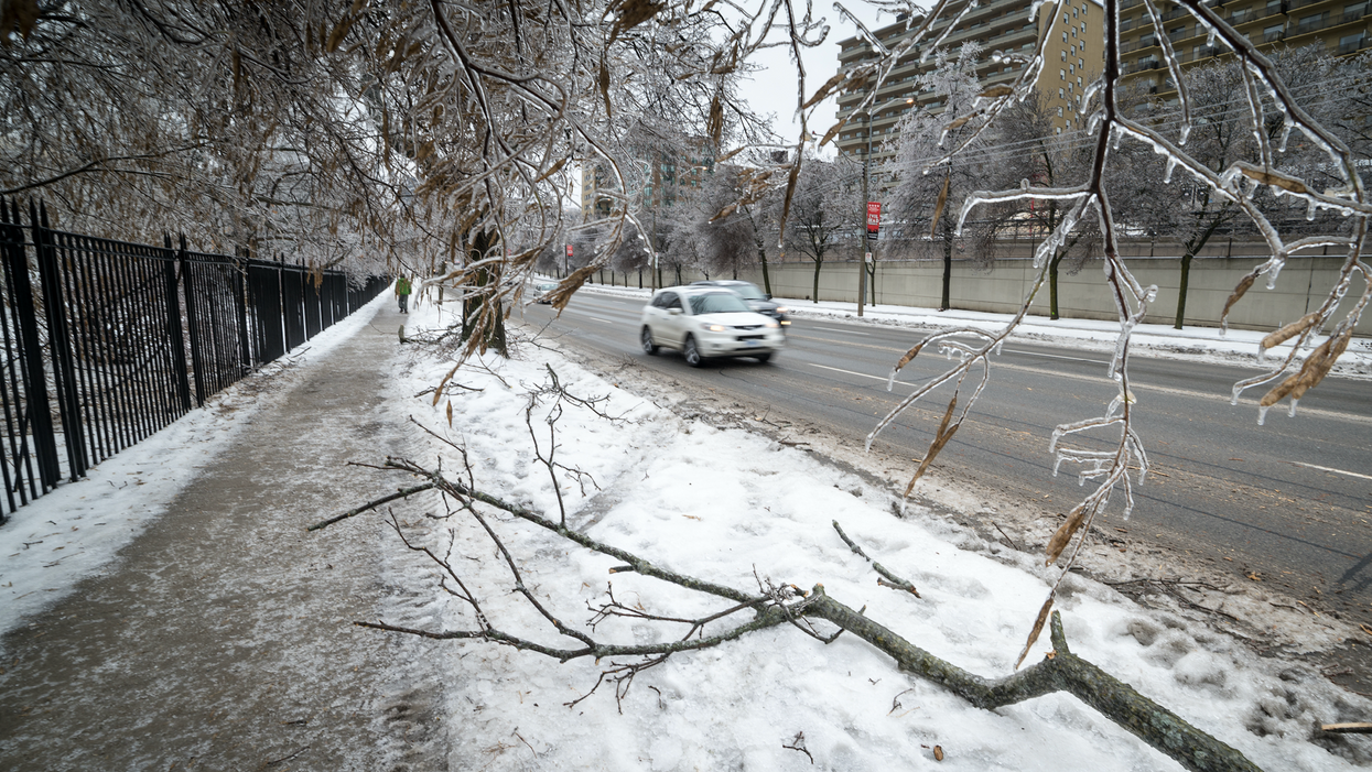 Environment Canada Warns That Parts Of Ontario Will Be Hit With A Freezing Rain Storm Tonight