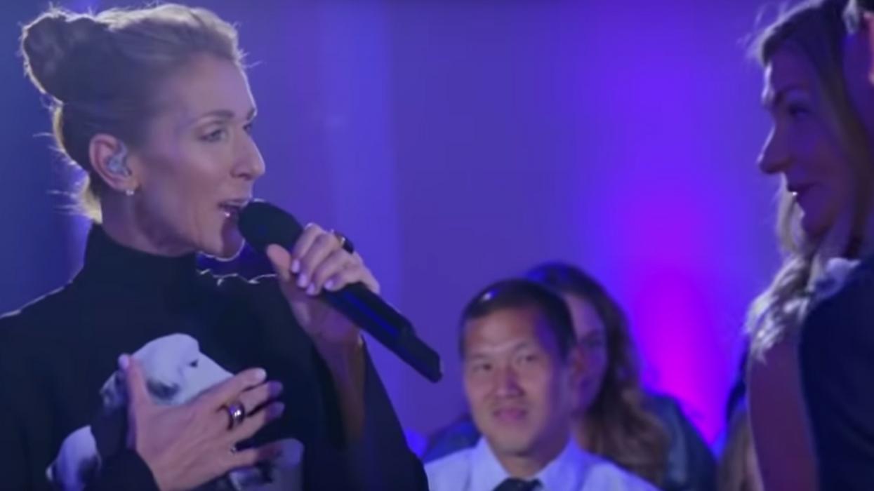 Céline Dion surprend un couple à leur mariage et c'est trop cute