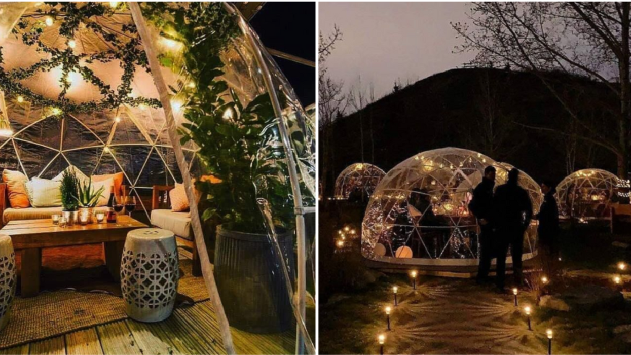 Tu pourras manger dans un dôme sous les étoiles ce printemps à Québec