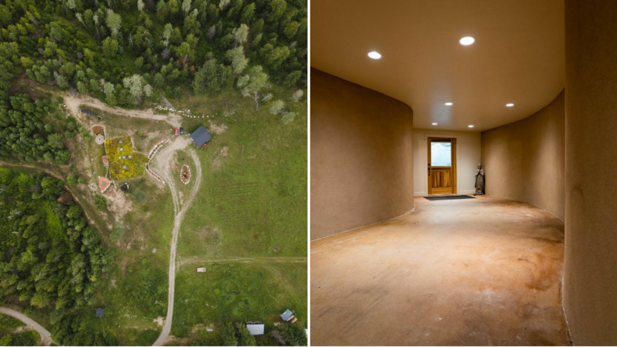 This Underground Hobbit Home For Sale In BC Has A Super Chic Interior (PHOTOS)