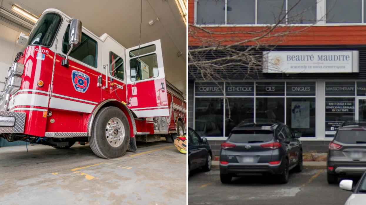 Policier complotiste de Laval: Son commerce a été ravagé par un incendie criminel