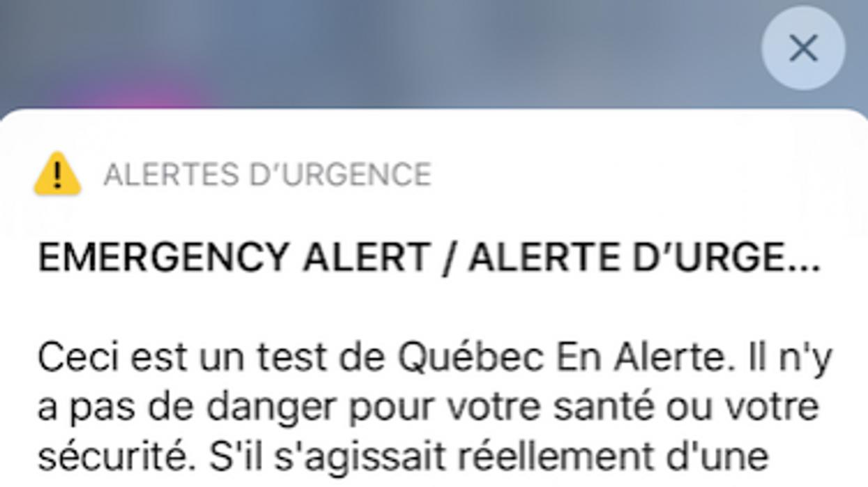 Le test d'alerte au Québec a été émis et tout le monde a fait le saut en même temps