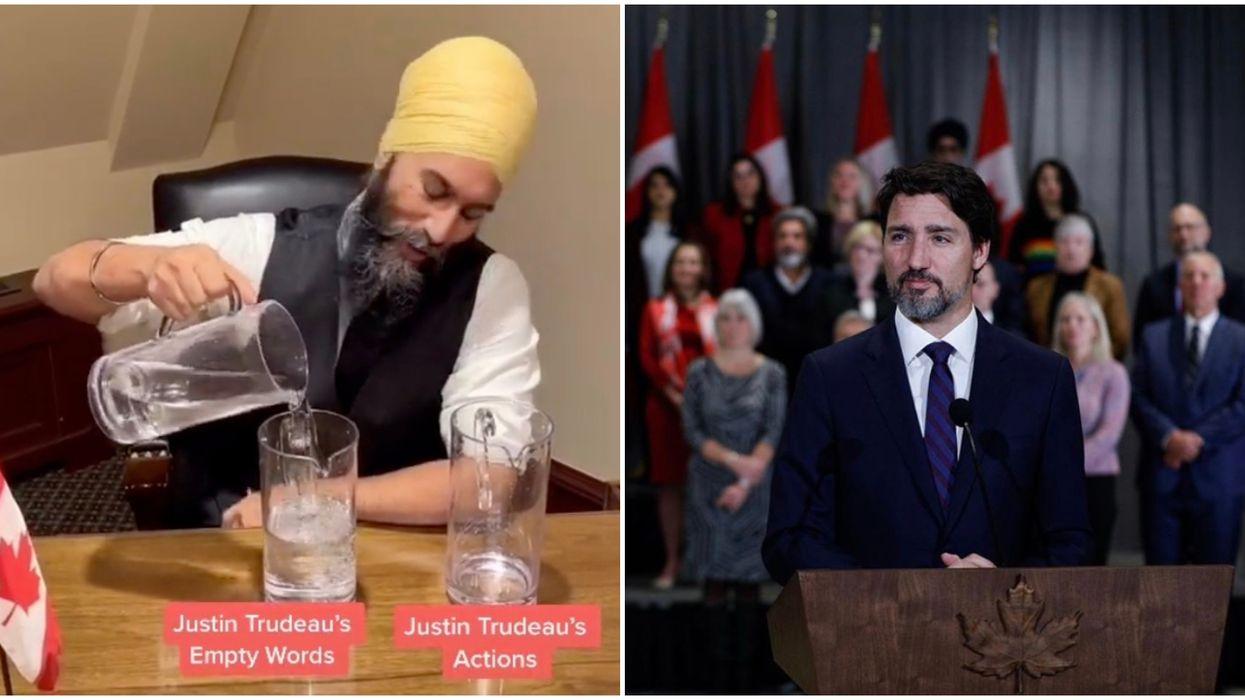 Jagmeet Singh's TikTok Shade Against Trudeau Is So On Brand