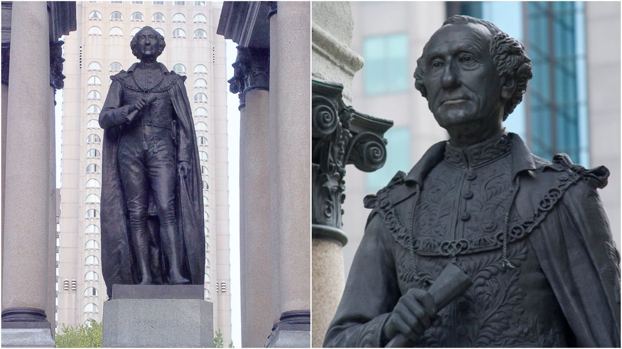 John A. Macdonald Statue Was Toppled In Montreal Following A Protest (VIDEO)