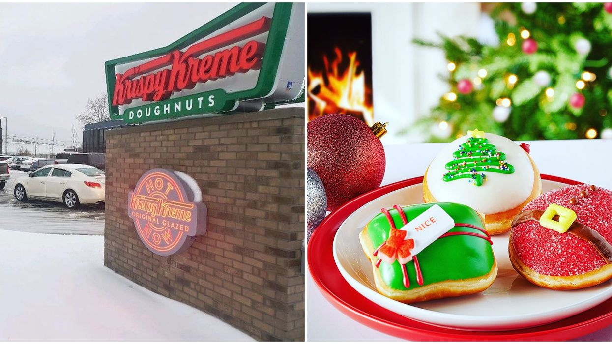 Krispy Kreme Canada Holiday Donuts Are Available Now & They're So Festive