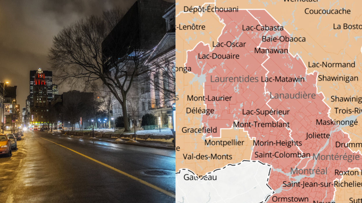 Le couvre-feu en zone rouge au Québec change officiellement