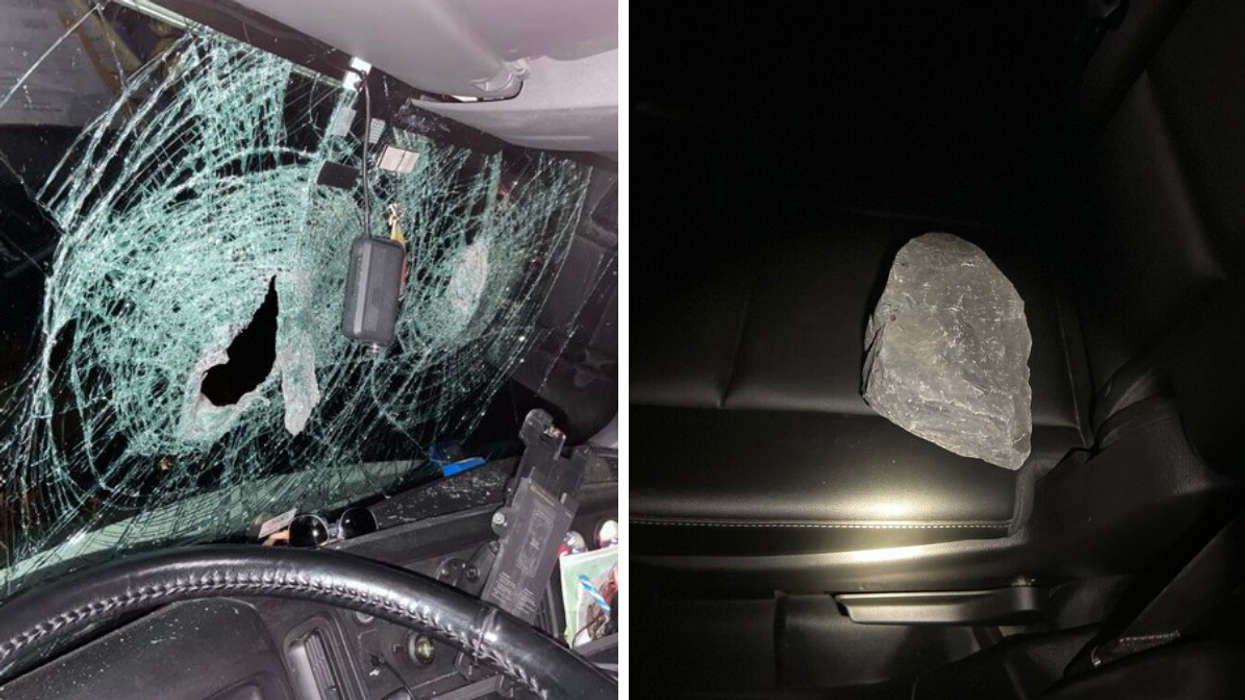 Massive Rocks Were Thrown On Hwy 401 This Weekend & Smashed Into Windshields (PHOTOS)