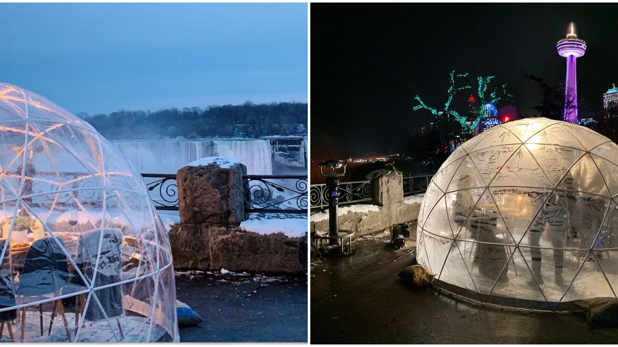 Niagara Fall's Snow Globe Dining Event Lets You Feast On Top Of The Falls This Winter