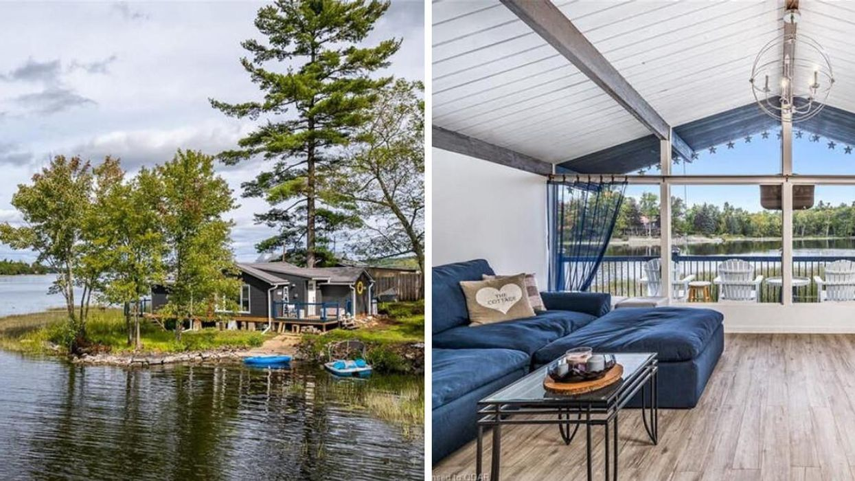 Ontario Cottage For Sale Is Under $350K & Sits On A Small Island With Breathtaking Views