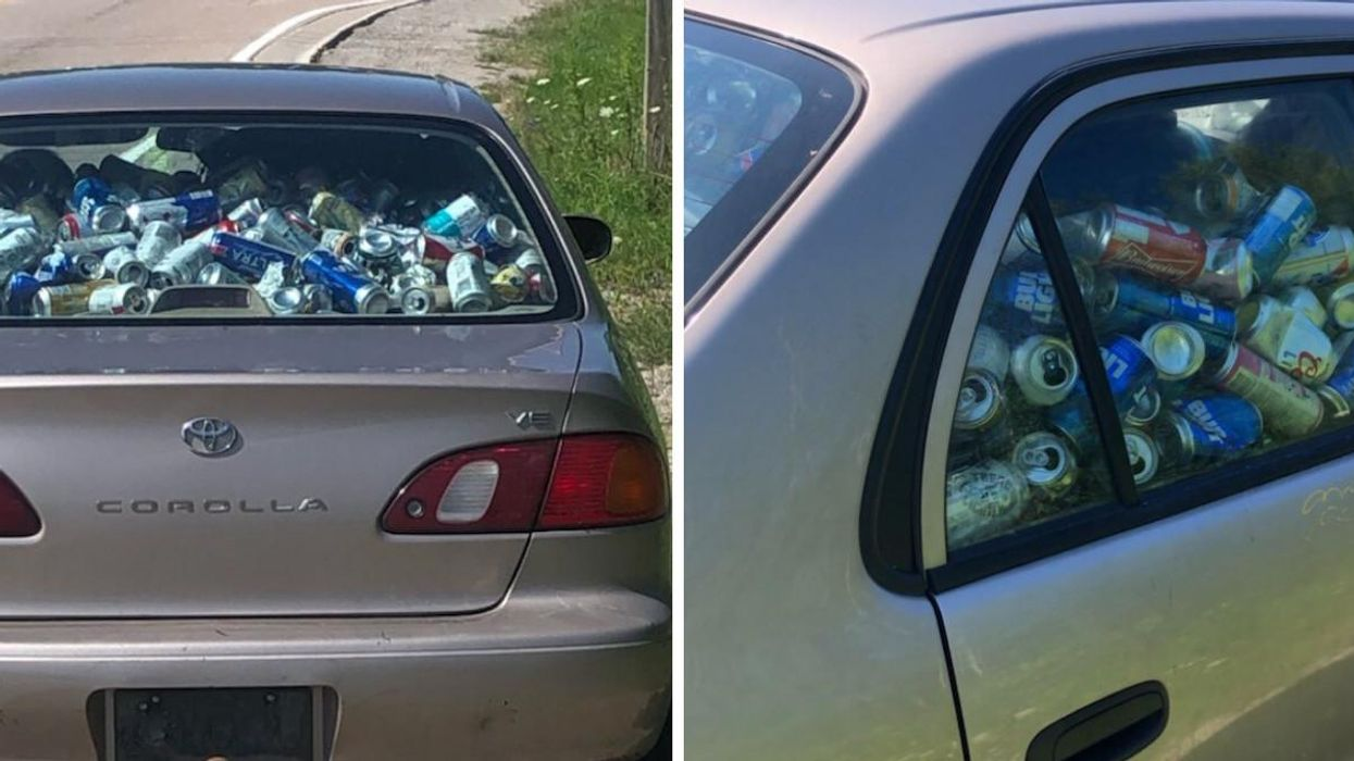 Ontario Driver Caught On Highway With Massive Pile Of Beer Cans