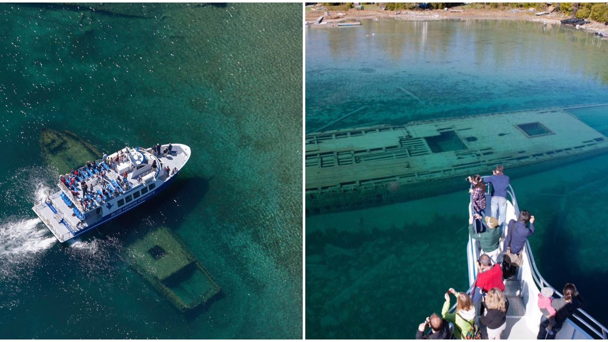 Ontario's Glass Bottom Boat Cruise Will Take You Past Ancient Shipwrecks This Spring