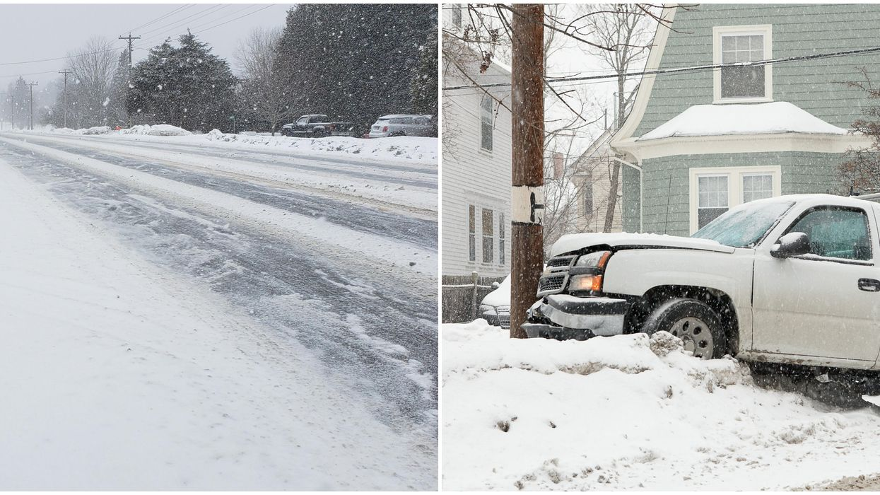 Ontario Snow Storm Had People Forgetting How To Drive & Dozens Of Accidents Were Reported