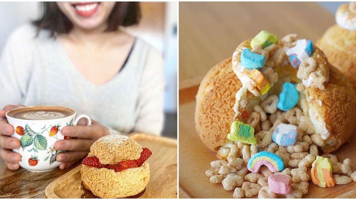 Orlando bakery café Light On The Sugar Has Delicious Cereal Stuffed Cream Puffs
