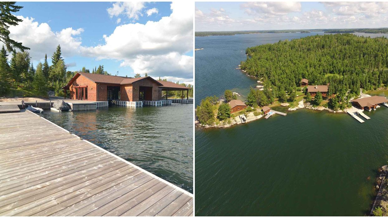 Private Island For Sale In Ontario With A Waterside Boardwalk Will Take You To The Tropics