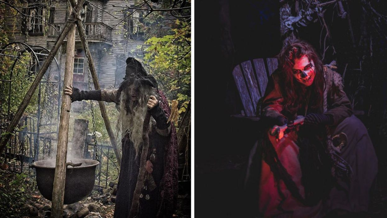 Saunders Farm's Haunted Attraction In Ottawa Is Crawling With Monsters & Witches