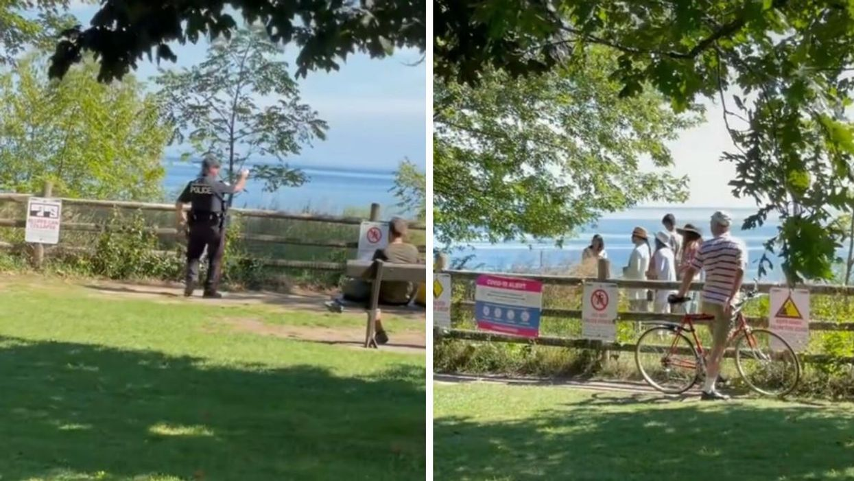 Scarborough Bluffs Trespassers Caught In The Act Charged Massive Fines By Police (VIDEO)