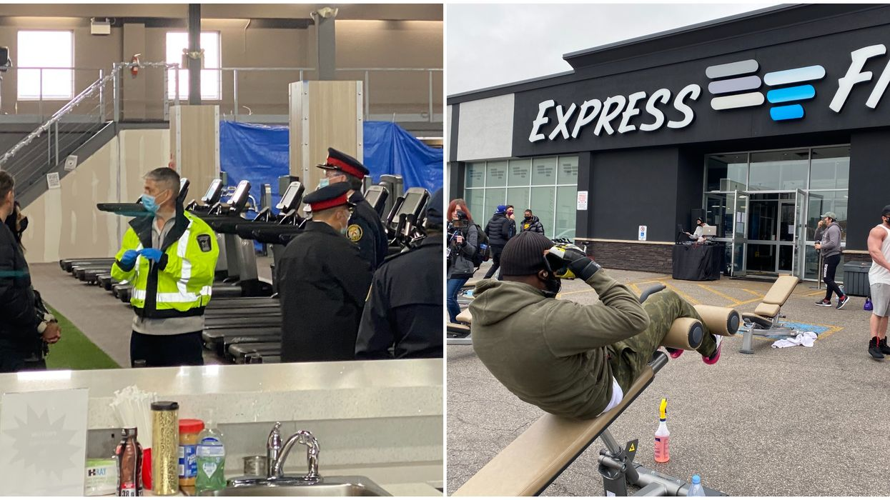 Scarborough Gym Is Visited By Police After Organizing A Workout Protest (VIDEO)