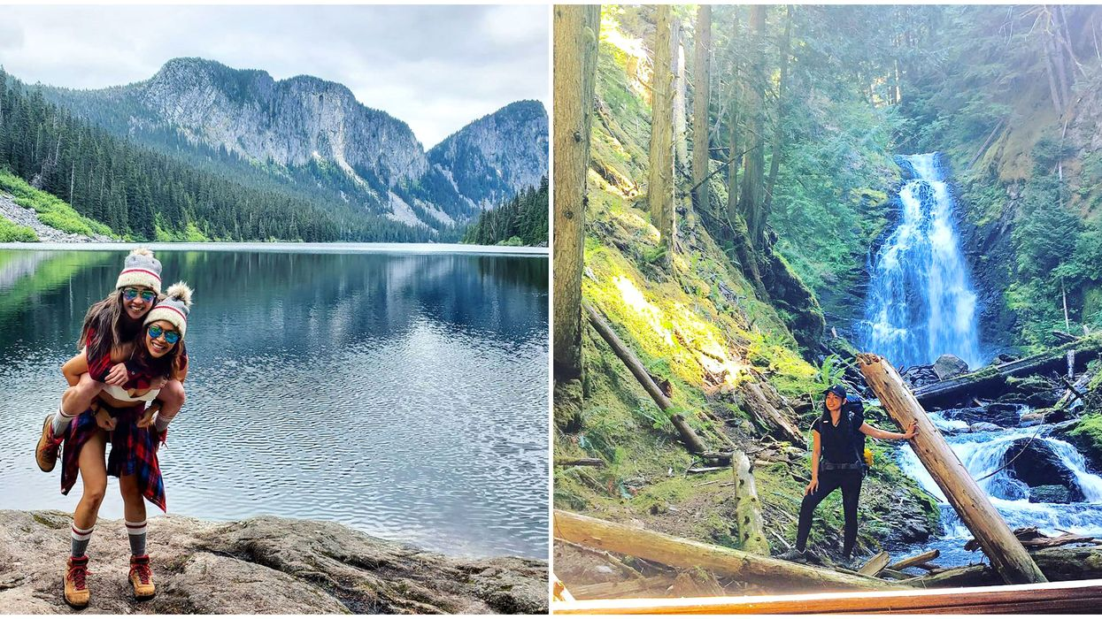 Secret BC Hiking Trail Takes You Past 2 Waterfalls & Leads To A Brilliant Blue Lake