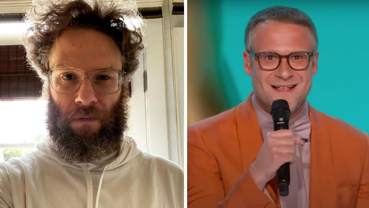 Seth Rogen Looked So Different Last Night As He Roasted The Emmys' COVID-19 Measures