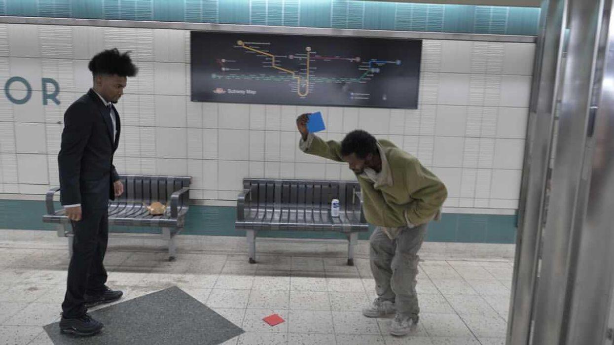 'Squid Game' Ddakji Challenge Has Torontonians Flipping Envelopes At A TTC Station (VIDEO)