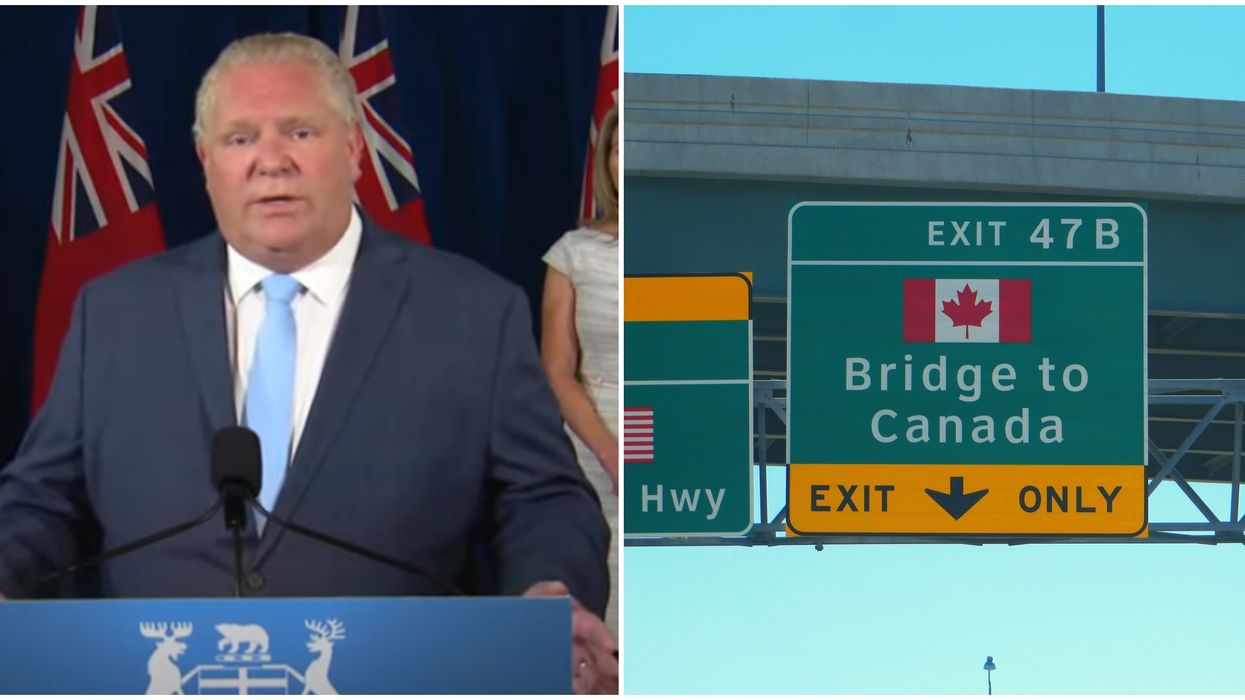 The Canada-U.S. Border Must Remain Shut For The Good Of Ontario, Says Ford