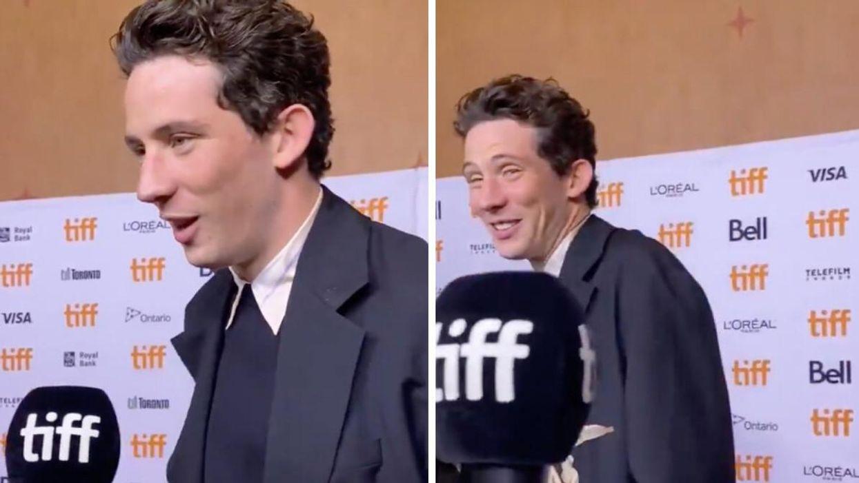 'The Crown' Star Josh O'Connor Had No Idea WTF A TikTok Was During TIFF Interview (VIDEO)