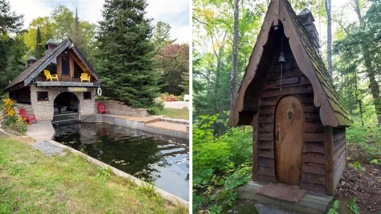This $600K Ontario Cottage Is Hidden In A Peaceful Cove & Even The Outhouse Is Legit